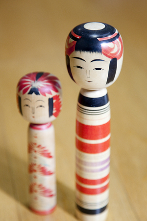 limbless: Kokeshi dolls Stock Photo