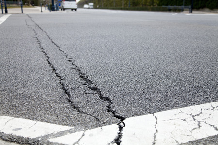 quake: Roads cracked in the quake