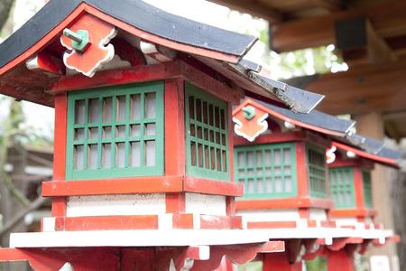 worshipping: Of Inari shrine lanterns