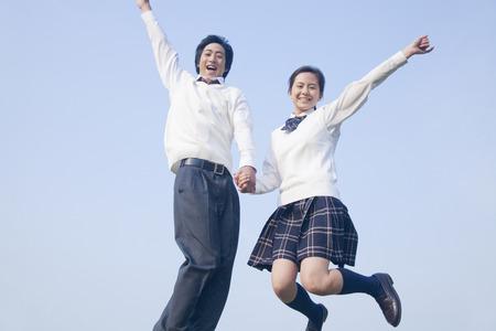High school couple to jump