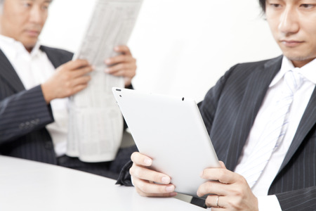 Businessman with a Tablet PC