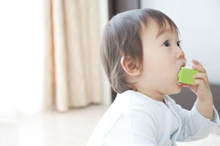 chew: Boys toys to chew on Stock Photo