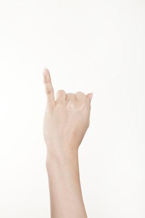 little finger: Hand of a woman make a little finger