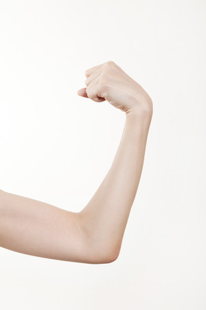 bicep: Arm of the woman to make a bicep