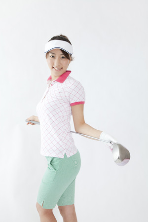 woman golf: Woman with a Golf Club