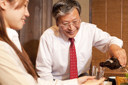 farewell party: Businessman to your cupbearer