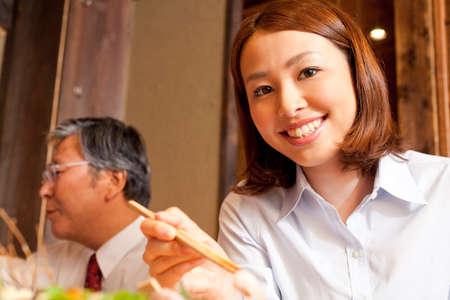 farewell party: OL eat cuisine