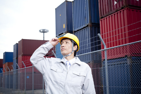 quarantine: Workers stare into the distance