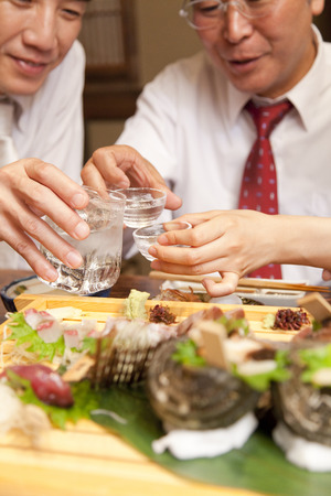farewell party: Cheers to businessman Stock Photo