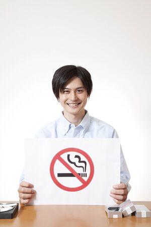 expressed: Men with non smoking mark