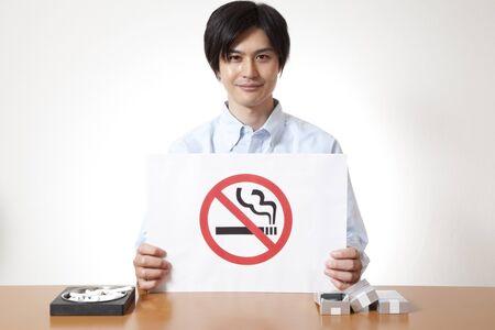 non  smoking: Men with non smoking mark