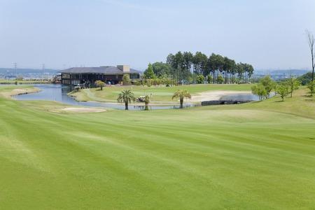 ゴルフ場の景色
