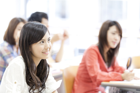 Womens College students receive lectures Stock Photo