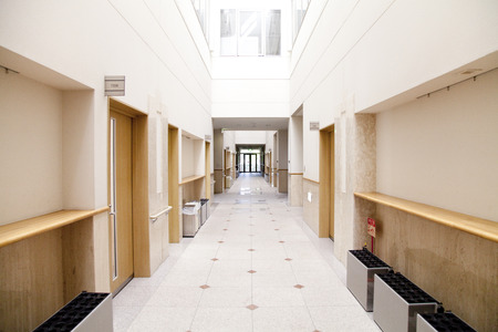 Hallway of University Stock Photo