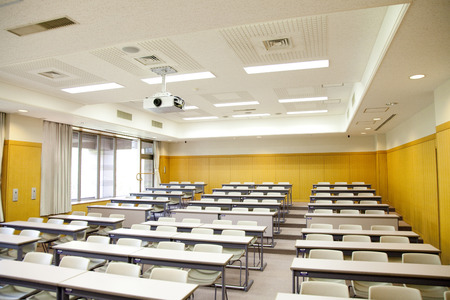 Lecture room of University Stock Photo
