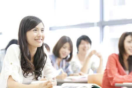 Women's College students receive lectures Foto de archivo
