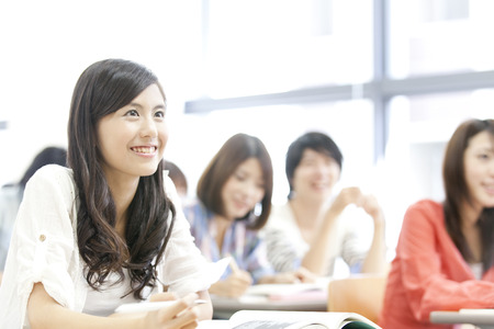 Women's College students receive lectures Stockfoto