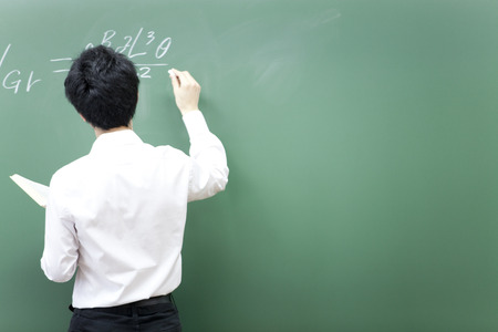 Lecturer to write a formula on the blackboard