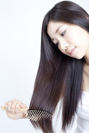 女性を磨く 写真素材