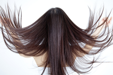 From behind the hair long woman