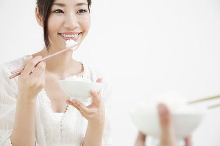 Couple to eat white rice