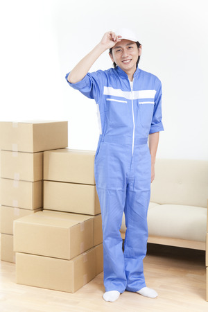 remover: Smiling Remover Stock Photo
