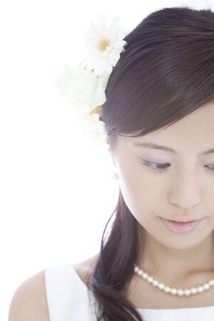 naar beneden kijken: bruid om neer te kijken