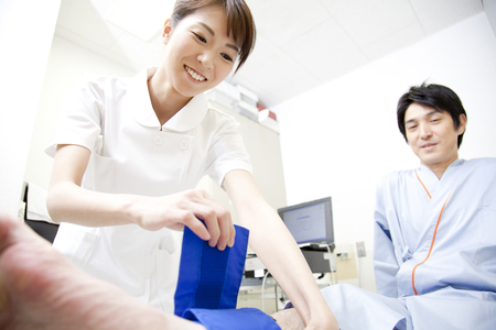 spp: Nurse inspect SPP Stock Photo