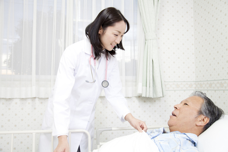 rounds: The rounds to female doctor Stock Photo