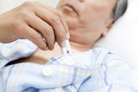 body temperature: Patients measure body temperature