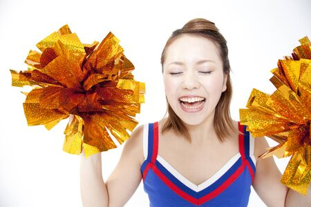 Cheerleader cheer with a smile 版權商用圖片