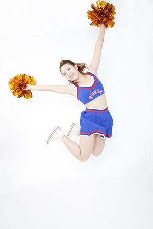Cheerleader jumping