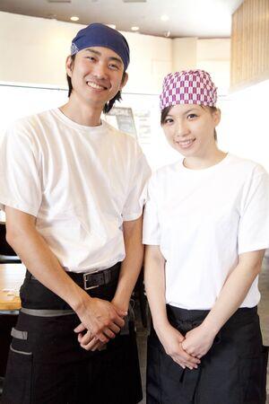 clerks: The Clerks smile Stock Photo