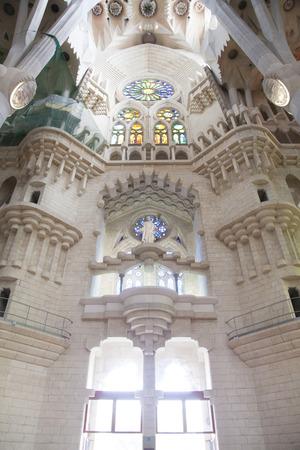 familia: Interior of the Sagrada Familia