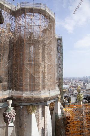familia: Sagrada construction site of Familia