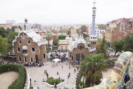 guell: Landscape of Guell Park Editorial