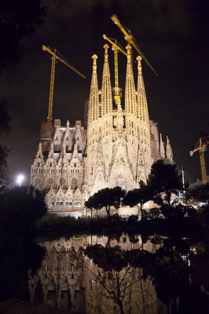 sagrada familia: Night view of Sagrada Familia