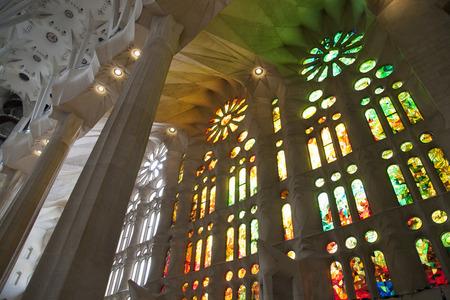 sagrada familia: Sagrada Familia stained glass