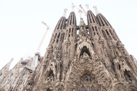 The appearance of the Sagrada Familia