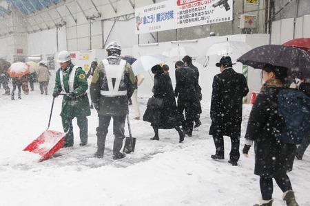 shoveling: Shibuya shoveling snow landscape