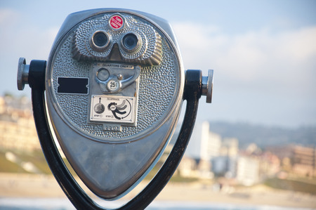 see the usa: Binoculars Stock Photo