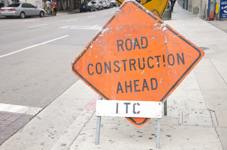 cautionary: Labeling of road construction