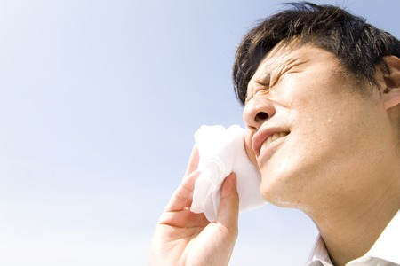 汗を拭くための実業家 写真素材