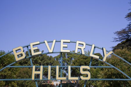 foreign country: Beverly Hills sign