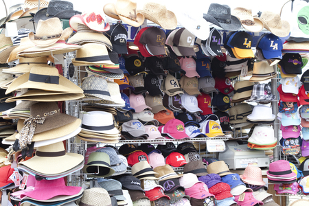 foreign country: Hat shop over-the-counter