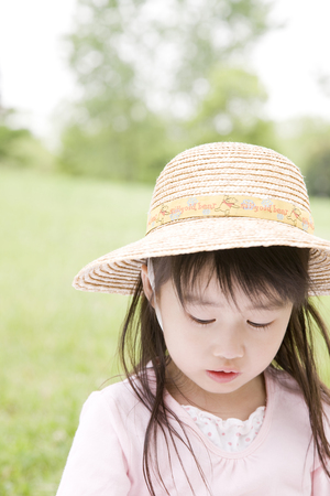 kindergartener: Girl who suffered a straw hat