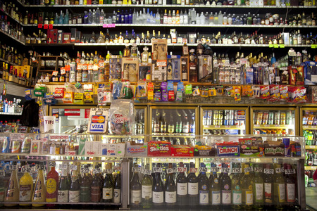 liquors: Liquor shop Editorial