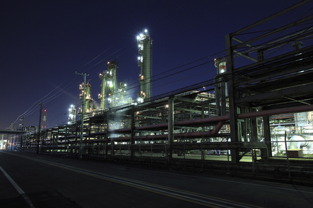 production area: Evening industrial zone industrial complex Stock Photo