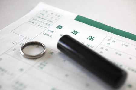 Wedding ring and seal the divorce papers