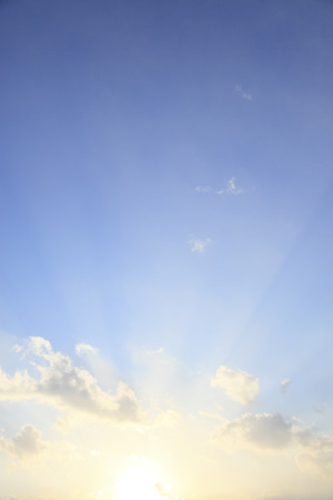 blue sky clouds: Blue sky clouds and oblique Stock Photo